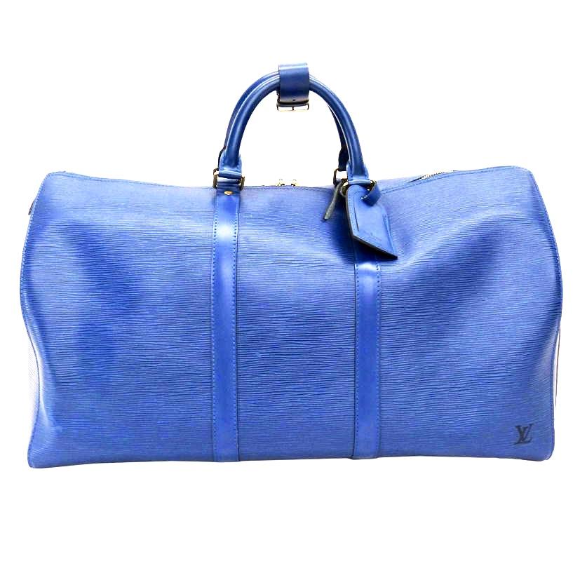Louis Vuitton Keepall Toledo Epi Blue