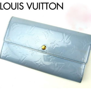 Louis Vuitton Pale Blue Vernis Sarah Wallet