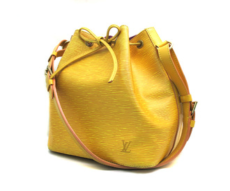 Louis Vuitton Petit Noe Yellow Epi Bucket Bag