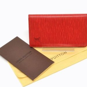 Louis Vuitton Red Epi Leather Cardholder