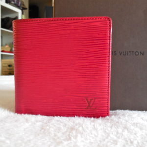 Louis Vuitton Red Epi Porte 6 Cartes Credit Wallet