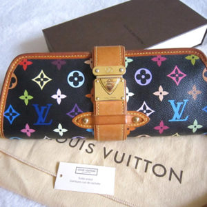 Louis Vuitton x Takashi Murakami Black Multicolor Shirley Clutch