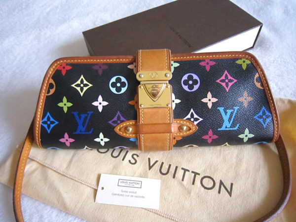 Louis Vuitton x Takashi Murakami Black Multicolor Shirley Clutch