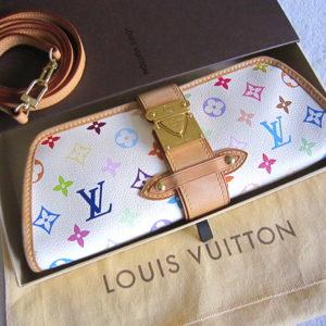 Louis Vuitton Shirley White Multicolour Clutch