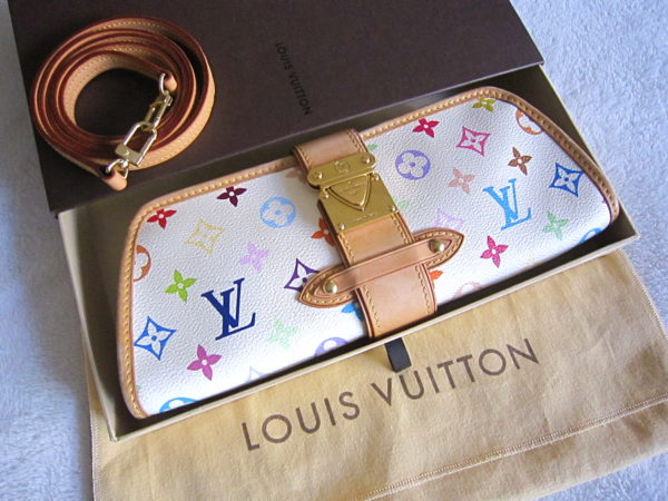 Louis Vuitton Shirley White Multicolour Clutch
