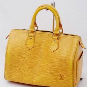 Louis Vuitton Tassil Speedy 25 Yellow Epi Leather Handbag