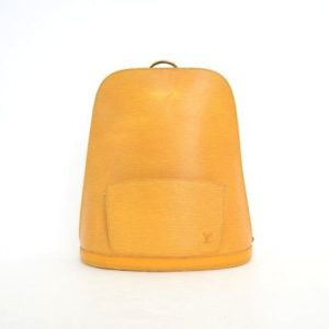 Louis Vuitton Yellow Epi Leather Gobelin Backpack