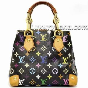 Louis Vuitton x Takashi Murakami Black Multicolor Monogram Audra Handbag