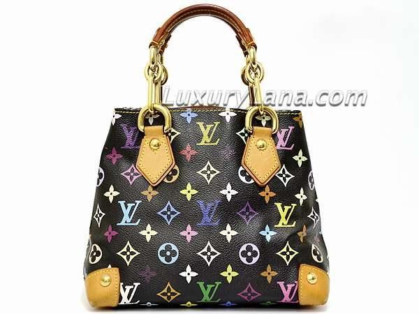 Louis Vuitton x Takashi Murakami Black Multicolor Monogram Audra Handbag