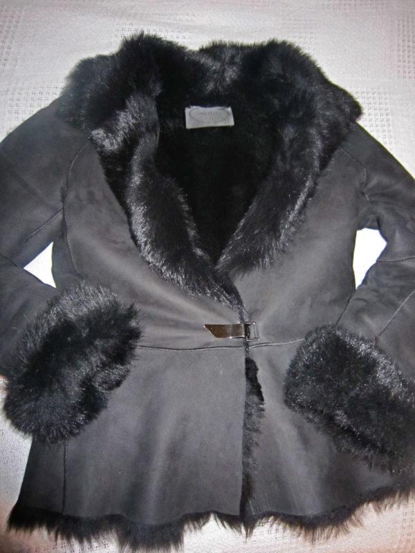 Luxury Black Shearling & Fur Jacket