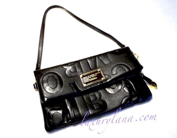 Marc By Marc Jacobs Black Leather Signature Clutch