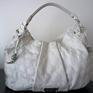 Marc By Marc Jacobs Honeycomb White Leather Hobo Bag