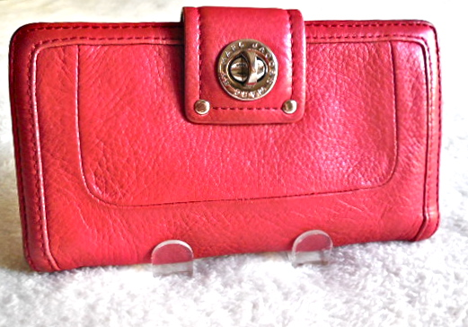 Marc by Marc Jacobs Red Totally Turn-Lock Wallet