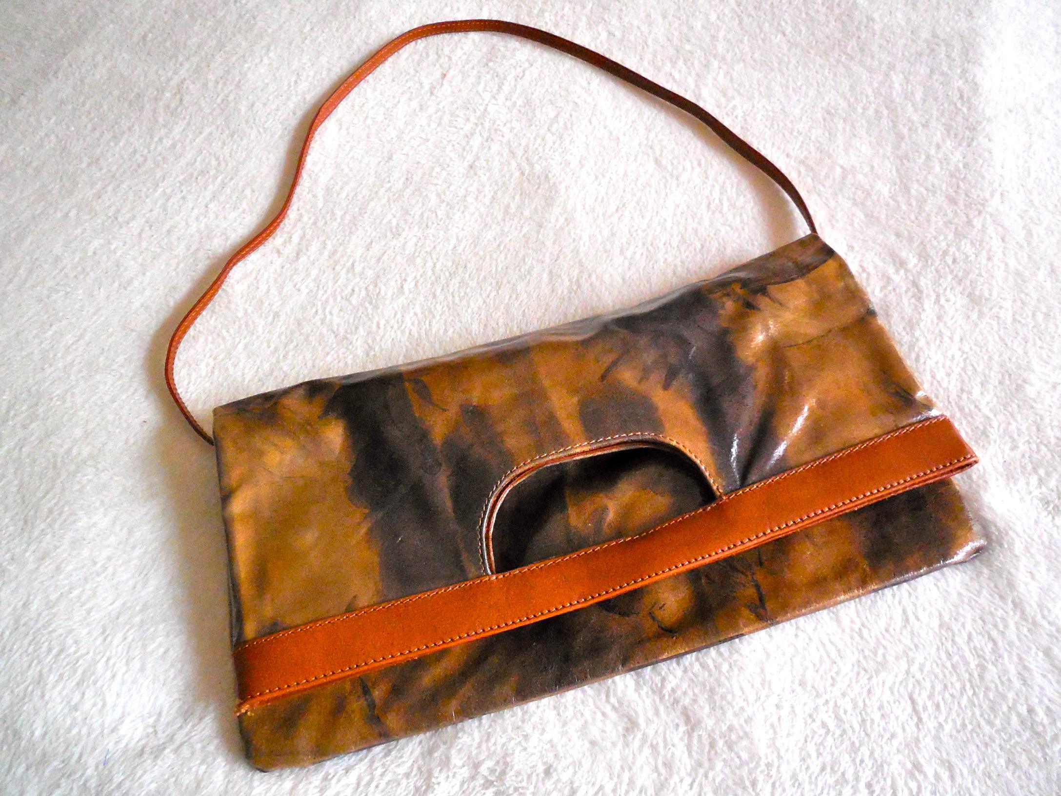 Maurizio Taiuti Leather Fl Crossbody Bag 3