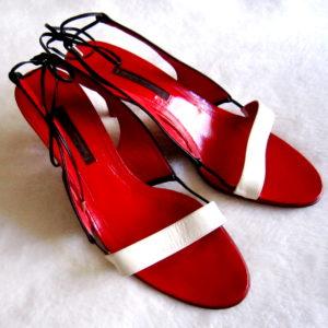 Narciso Rodriguez Colorblock Slingback Sandals