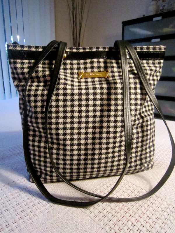 Paloma Picasso Checked Wool Large Tote