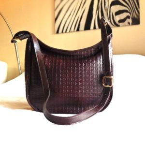 Pierre Cardin Vintage Burgundy Leather Crossbody