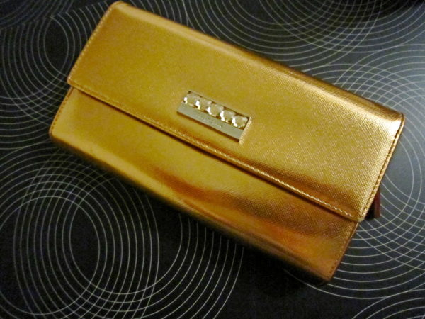 Pinky & Dianne Gold Patent Leather Long Wallet