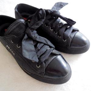 Prada Black Glitter Sneakers