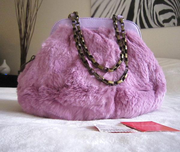Samantha Thavasa Pink Fur Handbag