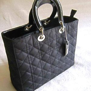 Inclosed Classic Black Quilted Handbag