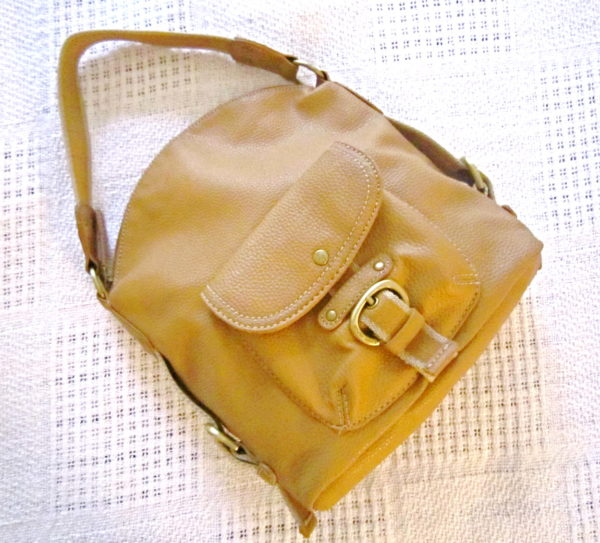 Tommy Hilfiger Mustard Leather Hobo Bag