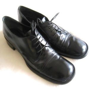 Via Spiga Men's Black Leather Oxford Shoes