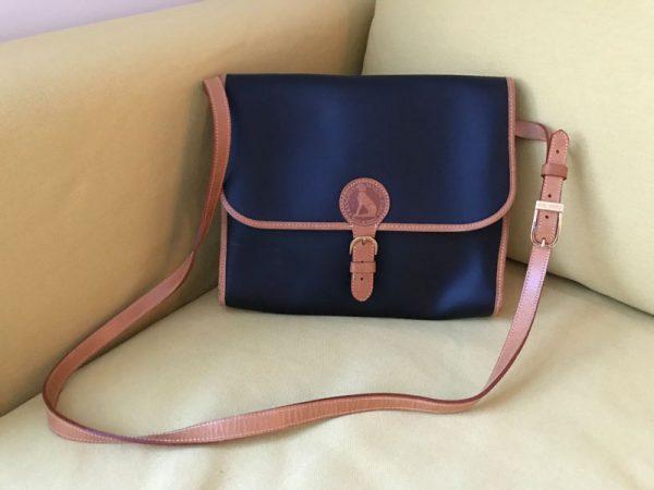 Francois Marot Black + Brown Leather Crossbody Bag