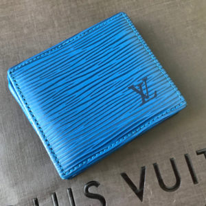 Louis Vuitton Blue Epi Leather Porte Monnaie Boite Coin Purse
