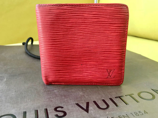 Louis Vuitton Red Epi Leather Marco Bi-fold Wallet